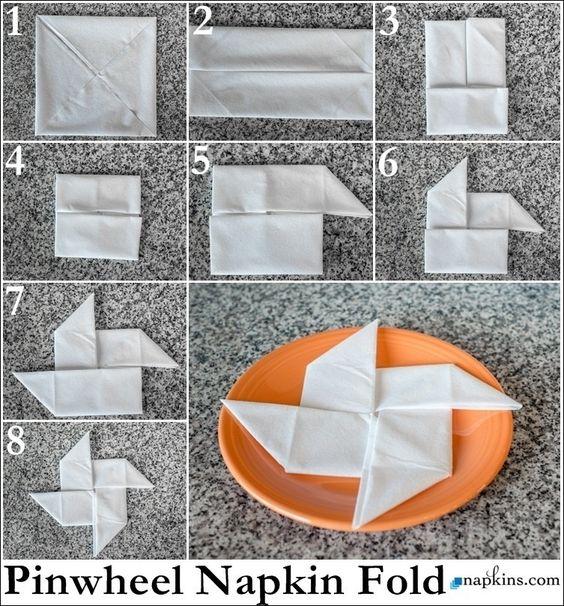 tutorial dobrar guardanapo estrela