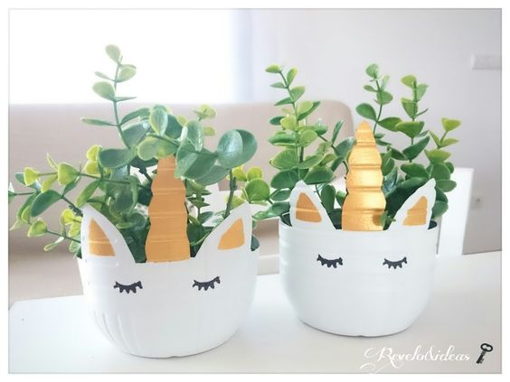 vaso garrafa pet unicornio